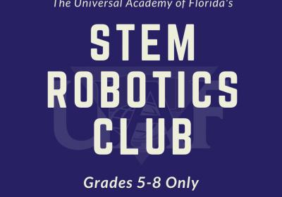 STEM Robotics Club (Grades 5-8): Oct. 22 - Dec. 10, 2021